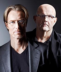 Författarduon Roslund & Hellström 2012. Foto: Peter Knutson